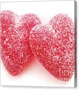 Candy Hearts Canvas Print
