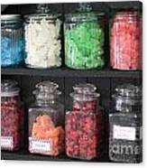 Candy In Container On Store Shelf Canvas Print
