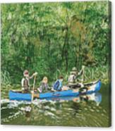 Canoeing With Grandpa Canvas Print