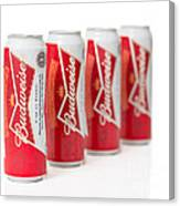 Cans Of Budweiser Beer Canvas Print