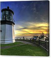 Cape Meares Lighthouse At Sunset Canvas Print