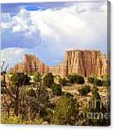 Capitol Reef National Park. Catherdal Valley Canvas Print