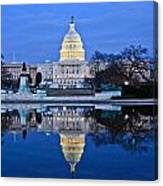 Capitol Reflecting Pool Canvas Print