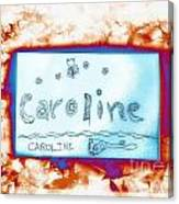 Caroline Canvas Print