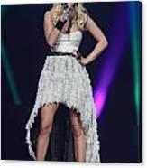 Singer Carrie Underwood Canvas Print