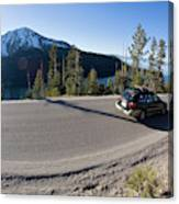 Cars Driving Along Hwy 89 Over Emerald Canvas Print