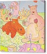Cartoon Animals Canvas Print