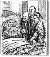 Cartoon: Big Three, 1945 Canvas Print