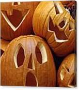 Carved Pumpkins Canvas Print