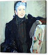 Cassatt's Portrait Of An Elderly Lady Canvas Print