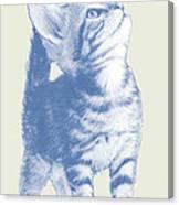 Cat With Love Hart Pop Modern Art Etching Poster Canvas Print