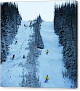 Cat Skiing At Fortress Mountain Canvas Print
