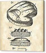 Catcher's Glove Patent 1891 - Vintage Canvas Print
