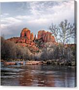 Cathedral Rocks Sunset Canvas Print