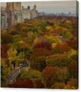 Central Park In Autumn Canvas Print