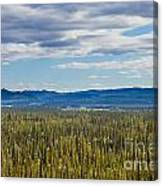 Central Yukon T Canada Taiga And Ogilvie Mountains Canvas Print