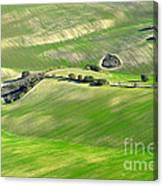 Cereal Fields From The Air Canvas Print