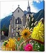 Chamonix Church Canvas Print