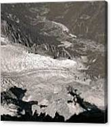 Chamonix From Above Canvas Print