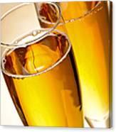 Champagne In Glasses Canvas Print