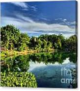 Chankanaab Lagoon Reflections Canvas Print