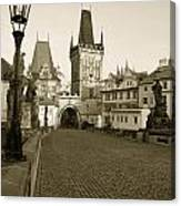 Charles Bridge In Prague Canvas Print