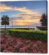 Charleston Sc Waterfront Pineapple Fountain Canvas Print