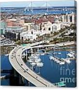 Charleston Waterfront And Marina South Carolina Canvas Print