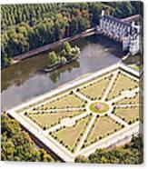 Chateau De Chenonceau And Its Gardens Canvas Print
