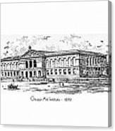 Chicago Art Institute - 1879 Canvas Print
