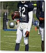 Chicago Bears Wr Chris Williams Training Camp 2014 01b Bw Canvas Print