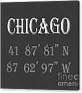 Chicago Coordinates Canvas Print