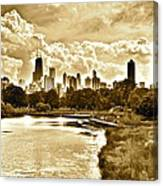 Chicago In Sepia Canvas Print
