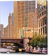 Chicago River Reflections Canvas Print