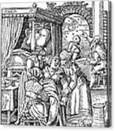 Childbirth, 1580 Canvas Print