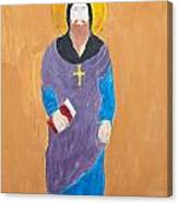 Child's Painting Of Jesus Christ Canvas Print
