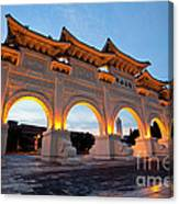 Chinese Archways On Liberty Square In Taipei Taiwan Canvas Print