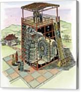 Chinese Astronomical Clocktower Built Canvas Print