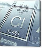 Chlorine Chemical Element Canvas Print