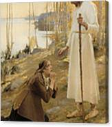 Christ And Mary Magdalene  Canvas Print