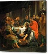 Christ Washing The Apostles' Feet Canvas Print
