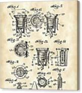 Christmas Bulb Socket Patent 1936 - Vintage Canvas Print