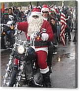 Christmas Toys For Tots Santa On Motorcycle Casa Grande Arizona 2004 Canvas Print