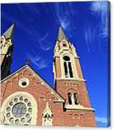 Church In The Clouds Canvas Print