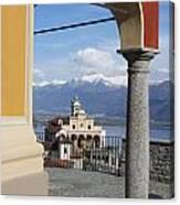 Church Madonna Del Sasso Canvas Print