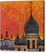 Church Sunset Canvas Print