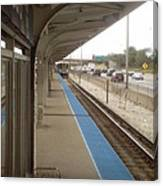Cicero Cta Blue Line Canvas Print
