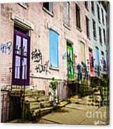 Cincinnati Glencoe-auburn Row Houses Picture Canvas Print