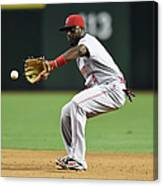 Cincinnati Reds V Arizona Diamondbacks 1 Canvas Print