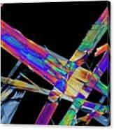 Ciprofloxacin Antibiotic Drug Crystals Canvas Print